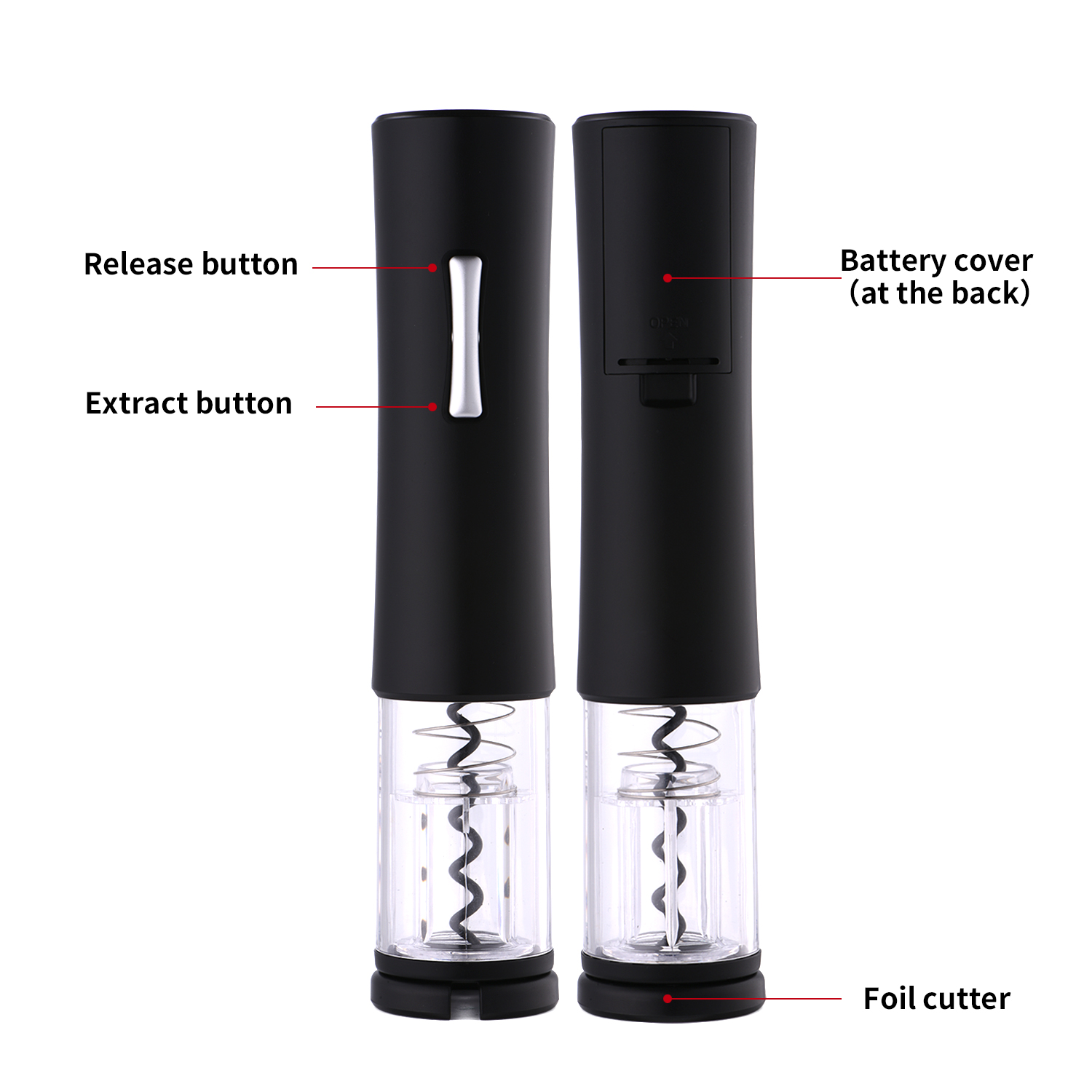 Smallest Electric Corkscrew Wine Opener Stocked Hot-Selling Amazon Battery-operated
