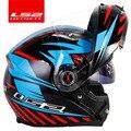 Originale LS2 FF370 Flip-up moto rcycle casco a doppio scudo con lenti da sole LS2 modulare visiera a doppia lente capacete casco moto Nuovo rivestimento