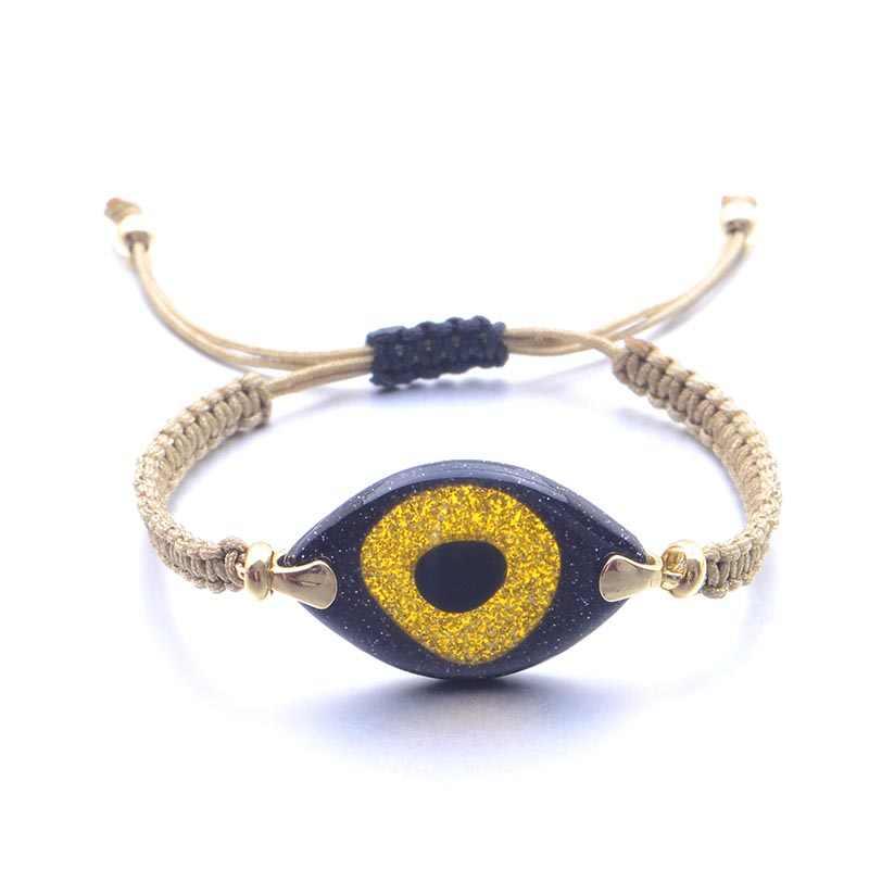 Grand Boho hommes bleu mauvais oeil Bracelet bohème breloque bracelets pour femme Pulseras Bransoletki Damskie bijoux cadeau