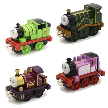 40 Styles  Thomas Alloy Metal Diecast Magnetic Track Train Model Thomas And Friends Train Toy  Children Educational Toy Gift zhenwei magnetic thomas train wooden track car children s puzzle early learning toy cake decoration diecast train action figure