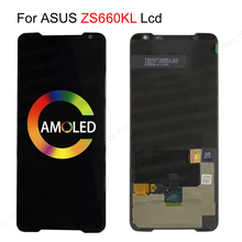 AMOLED LCD For ASUS ROG Phone II Phone2 PhoneII ZS660KL LCD Display Touch Screen Replacement For ASUS ZS660KL LCD ZS600kl ROG