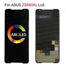 Pantalla LCD AMOLED para ASUS ROG Phone II, Phone2, PhoneII, ZS660KL, pantalla táctil de reemplazo para ASUS ZS660KL, LCD, ZS600kl, ROG