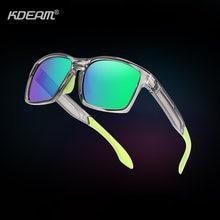 Мужские уличные солнцезащитные очки kdeam трендовые резиновые