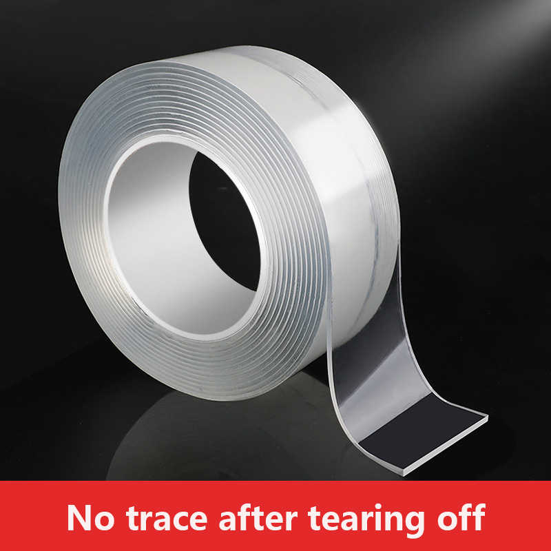 Cinta adhesiva multifuncional de doble cara, 1/2/3/5m, nueva cinta adhesiva de Gel resistente reutilizable, impermeable, mágica