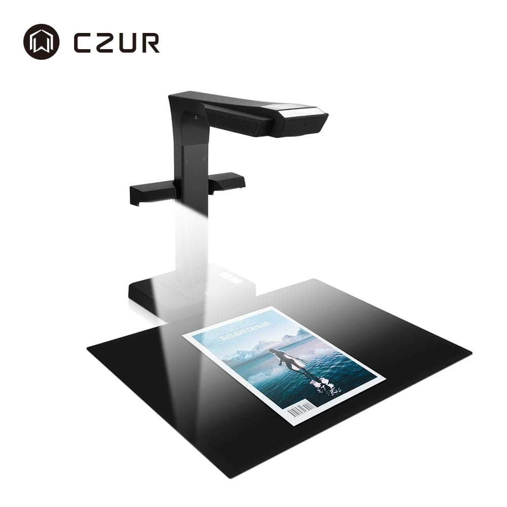 CZUR E18 Pro Professional Book Document Scanner with OCR & WIFI Function for Mac Windows Convert to PDF/Searchable PDF/Word/TIFF