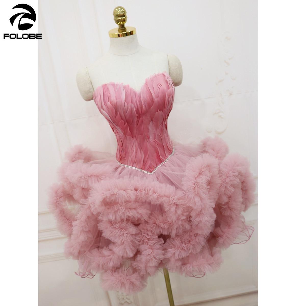 Sexy chérie robe de bal ruché tulle robes de graduation court rose blanc noir filles robe de soirée de bal vestidos de graduacion