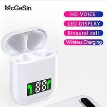 Mcgesin i99 tws ワイヤレスイヤホン bluetooth ヘッドフォン led ディスプレイヘッドセット音楽インナーイヤー型サポートワイヤレス充電とマイク