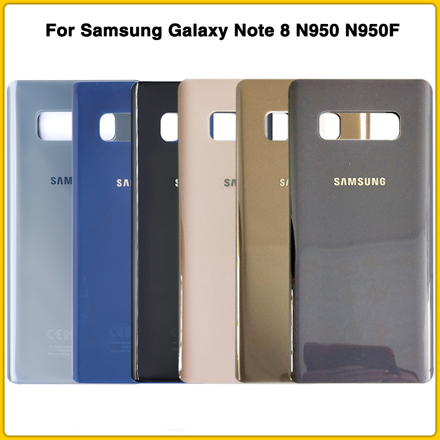 New Note8 Rear Housing Case For Samsung Galaxy Note 8 N950 N950F Battery Back Cover Door Rear Cover With Sticker Adhesive