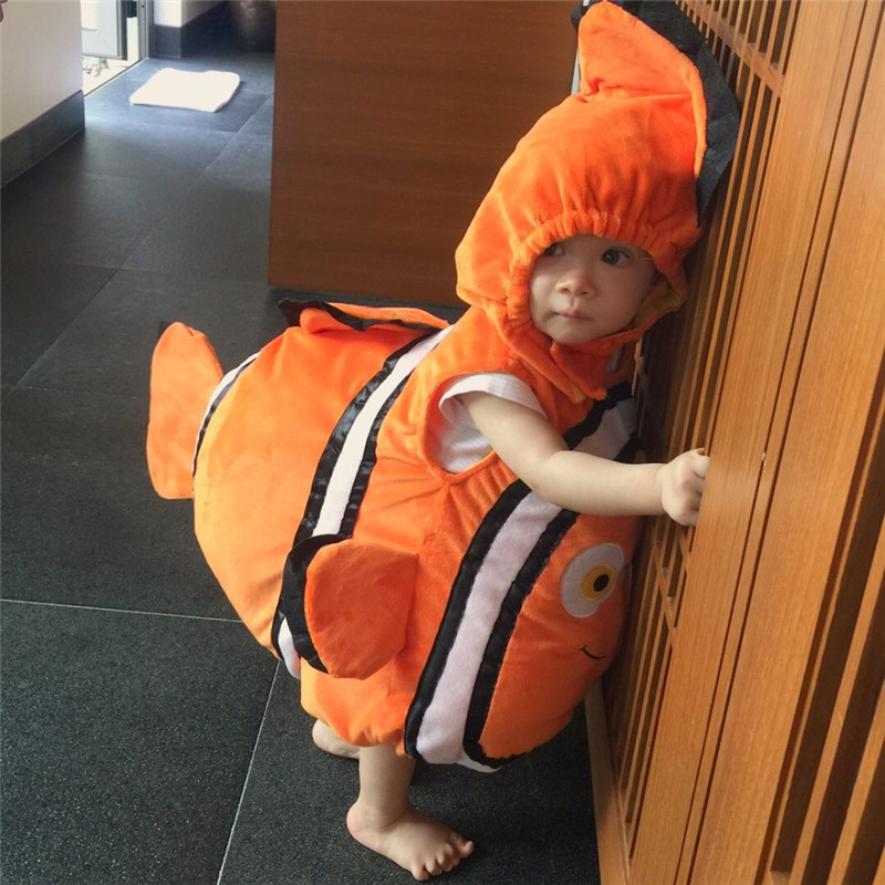 New Finding Nemo Baby Costume Fish Clownfish From Pixar Animated Little Baby Child Kids Halloween Christmas Cosplay Costume