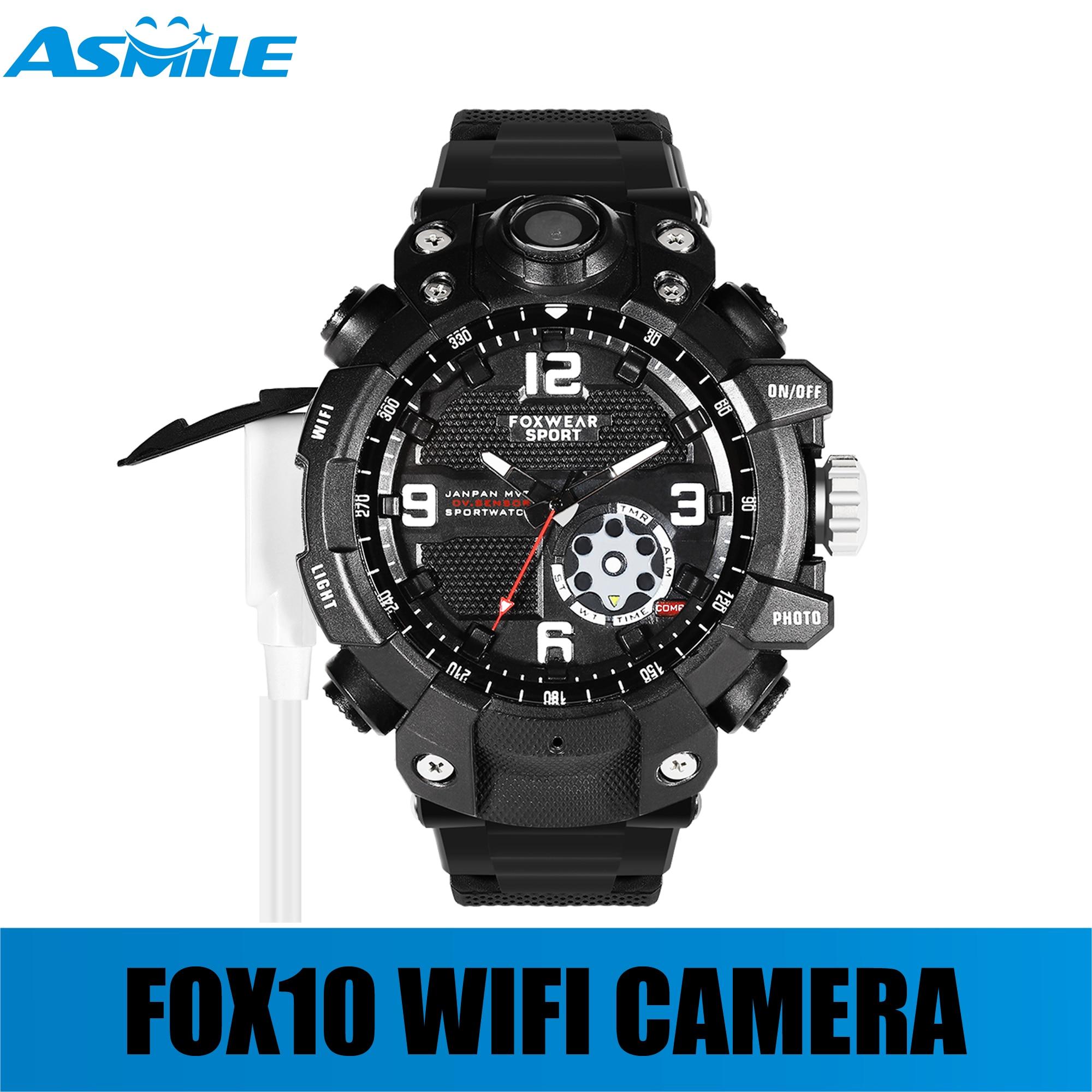 NEW SALE High Resolution 2k Fox10 Wifi Watch Camera 32G FOXWEAR WIFI Watch Camera With Waterproof