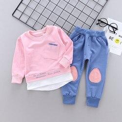 Roupas infantis para o outono, roupas para meninos e meninas, bebês, camiseta, calças de manga longa, 2 peças, conjuntos de roupas infantis, agasalhos de bebê de 1 2 3 4 5 anos