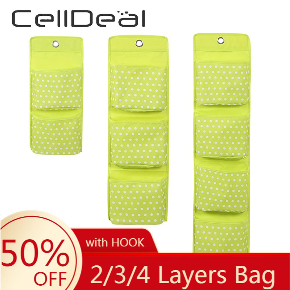 2/3/4 Layers Hanging Organizer Multi Grid Socks Toy Underwear Keys Sorting Storage Mails Bag Door Wall Hanging Closet Multi Use