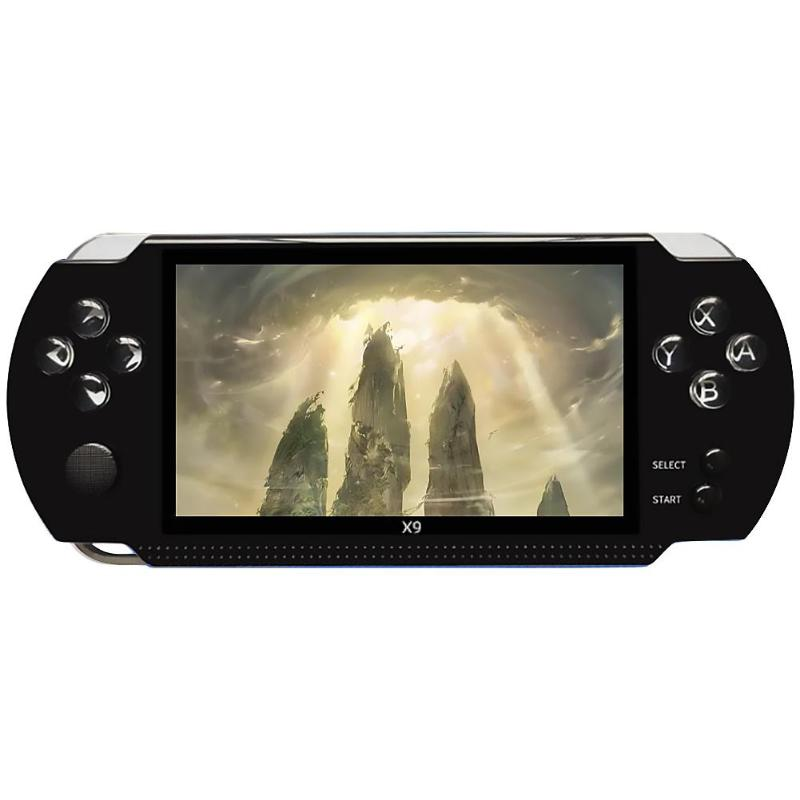 CoolBaby X9 Handheld Game Console 8GB Support TV Out Put With MP3/Movie Camera Multimedia Video Game Player Built-in 300 Games