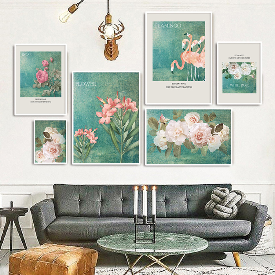 2019 Wall Flower Pictures Painting Printing On Canvas Decoratives Art  Vintage Posters And Prints Modern Dining Room Bedroom Art Decor From  Serlima, ...