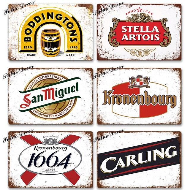 Beer Vintage Metal Plates 8