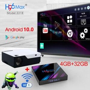 Image 2 - WZATCO M18 1920x1080P אנדרואיד 10.0 WIFI AC3 4K 200 אינץ מלא HD 1080P LED מקרן וידאו Proyector קולנוע ביתי 5500 לום