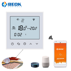 Beok Wifi Version Thermostat for Electric heated Floors Programmable Thermoregulator with Google Home Amazon Alexa