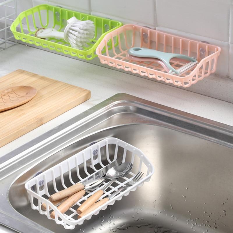 Kitchen Sink Drop Frame Filter Sponge Ball Storage Soap Kitchen Storage Box