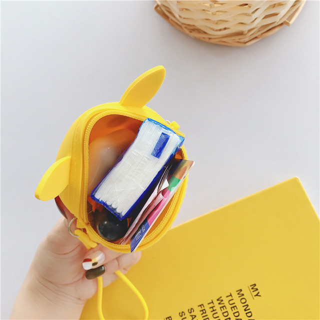 Q oncle imaginatif dessin animé porte-monnaie chaîne diagonale sac Portable clé écouteurs sacs de rangement Silicone Kawaii portefeuille pochette à fermeture éclair
