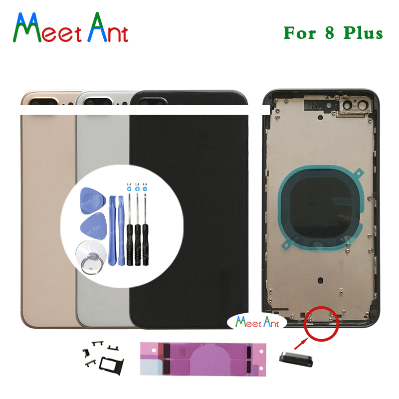 AAA High Quality Back Cover For Iphone 8 8G Or 8 Plus 8Plus X Housing Cover Rear Door Chassis Middle Frame With CE Or Without CE