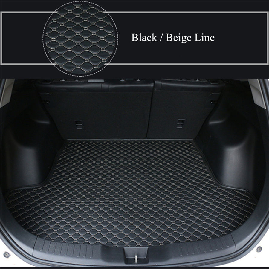 YJ99 Luxury High Quality Car Trunk Mats  For Peugeot 5008 2017 2018 2019 Black Cargo Liner Car Styling Rugs Carpet Waterproof