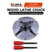 Chucks-Machine-Tool Lathe Woodworking 4-Jaw-Wood 5-/125mm Self-Centering-Chuck