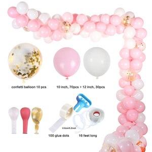 Image 5 - MEIDDING premier 1St fête danniversaire décors fille bébé douche décoration Oh bébé nombre ballons Photo bannière enfants rose cadeaux