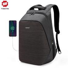 Tigernu Анти Вор ноутбук рюкзак usb зарядки 15.6 рюкзаки мужчины тонкий водонепроницаемый школьный рюкзак сумка женщины мужской рюкзак путешествия