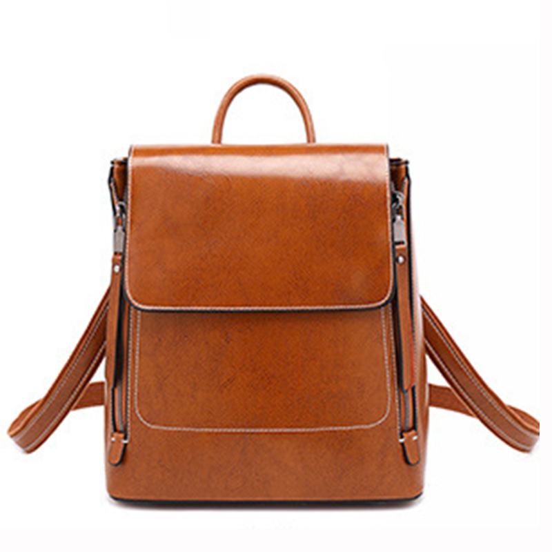 Mochila De Cuero genuino para mujer, mochila de hombro, mochila escolar para chica, mochila para mujer, mochila cruzada