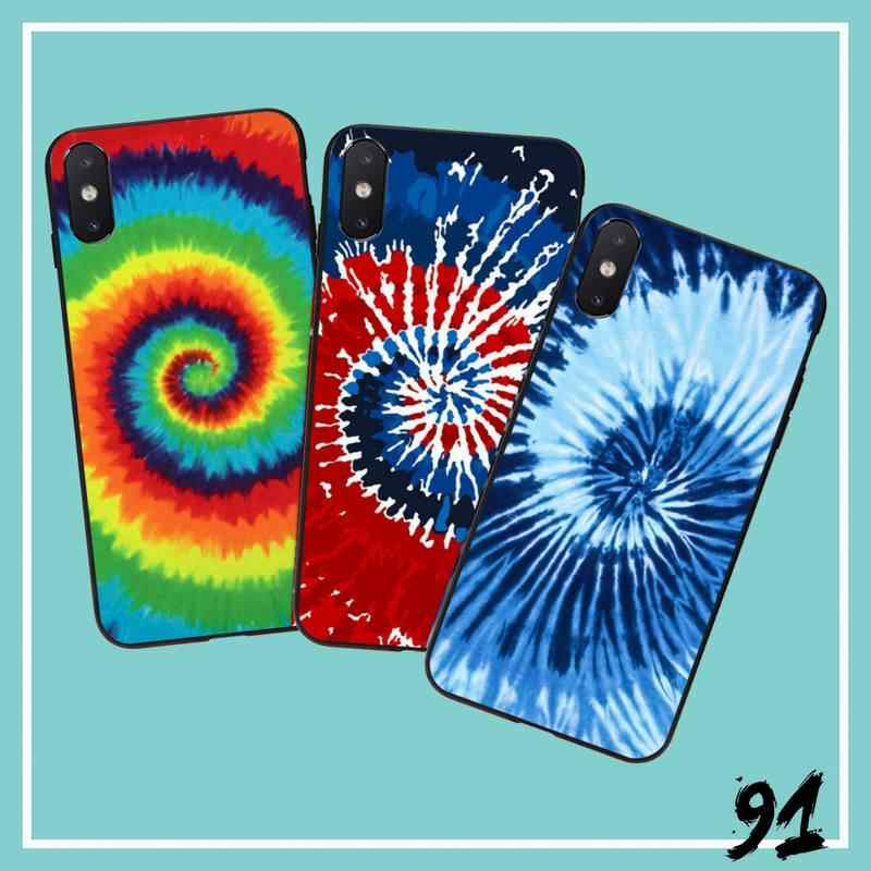 Psychedelische Trippy Tpu Zachte Siliconen Telefoon Case Cover Telefoon Case Cover Voor Iphone 6S 6Plus 7 7Plus 8 8Plus X Xs Max 5 5S Xr 10