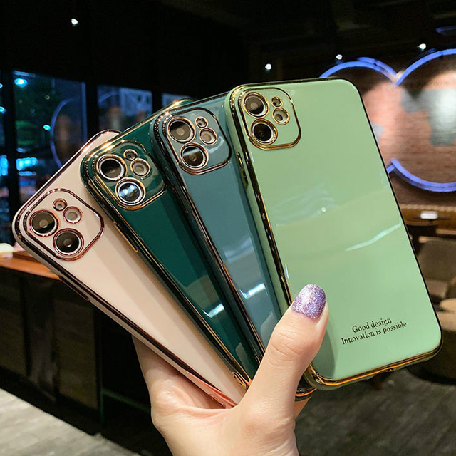 Luxury Plating Silica gel soft Mobile phone Case For iphone XR X XS Max 6 6S 7 8 Plus 12 11Pro 12mini Fashion Cell Phone 11 Case 1