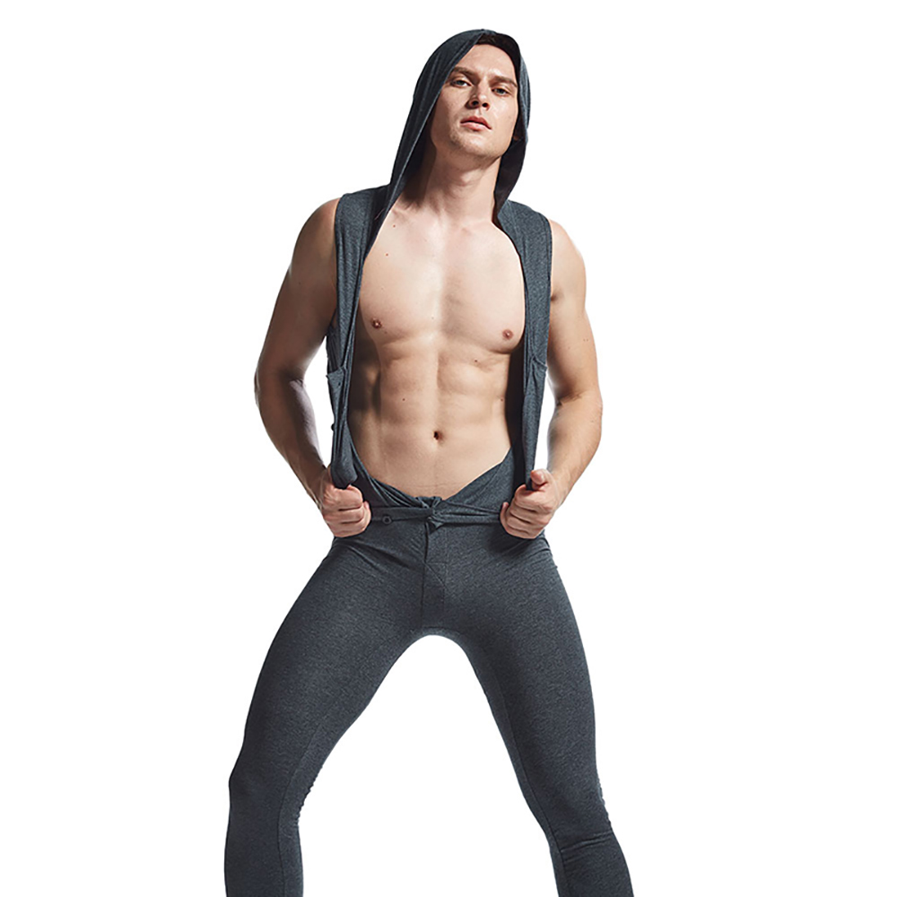 Mens Sexy Loose Jumpsuits Men Clothing Pants Breathable Underwear One-piece Garment Jumpsuit Pajamas  Bodysuit Tank Tops Solid