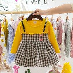 Осенне-весеннее стандартное розовое детское платье, одежда, платья принцессы для вечеринки, платье на 1-й день рождения, платье для девочек