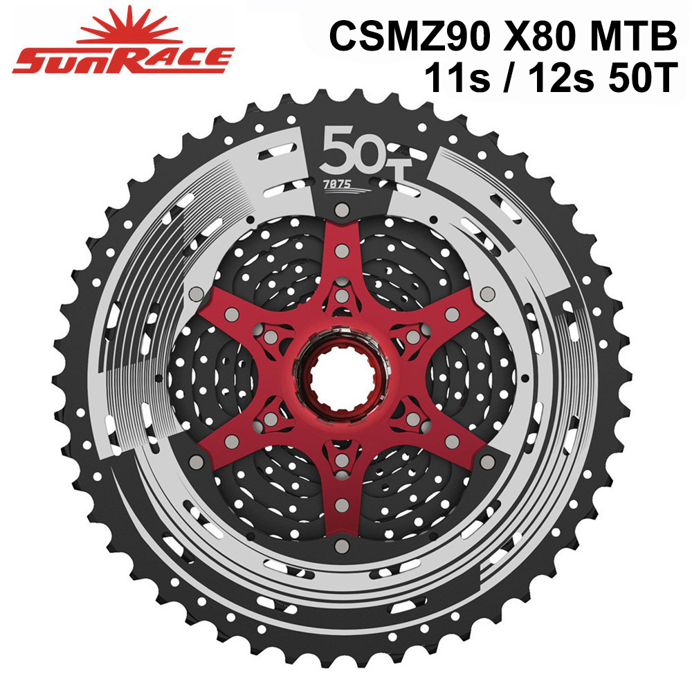 SunRace 10s 11s 12s Bike <font><b>Cassettes</b></font> for MTB Bicycle 46T 50T Freewheel , CSMX80 Z90 S8 S3 X3 Cycling Flywheels for Deore sram image