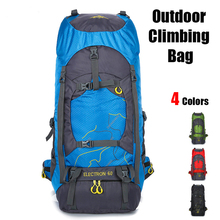 Large Capacity Waterproof 60L Travel Mountaineering Backpack Heavy Duty Outdoor Hiking Sports Backpack Water-Resistant Camping cheap NYLON Travel Bags