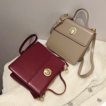 vintage square women shoulder bags designer lock handbags luxury pu leather crossbody messenger bag lady small flap purses 2002