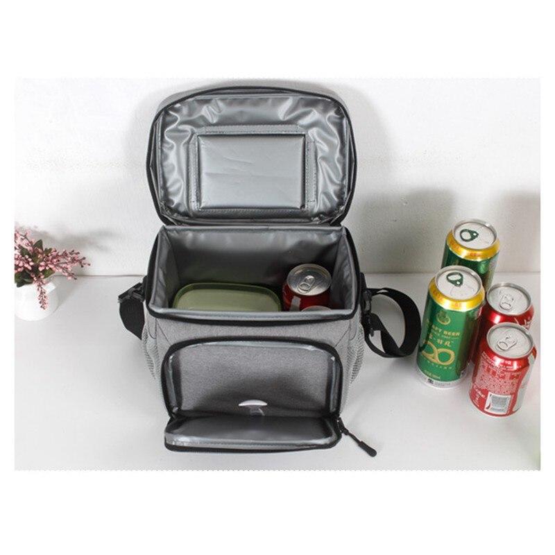 8L imperméable à l'eau frais garder boîte Oxford tissu EVA alimentaire isolation sac à déjeuner simple-épaule bière à emporter Pack fermeture éclair sac de pique-nique - 5