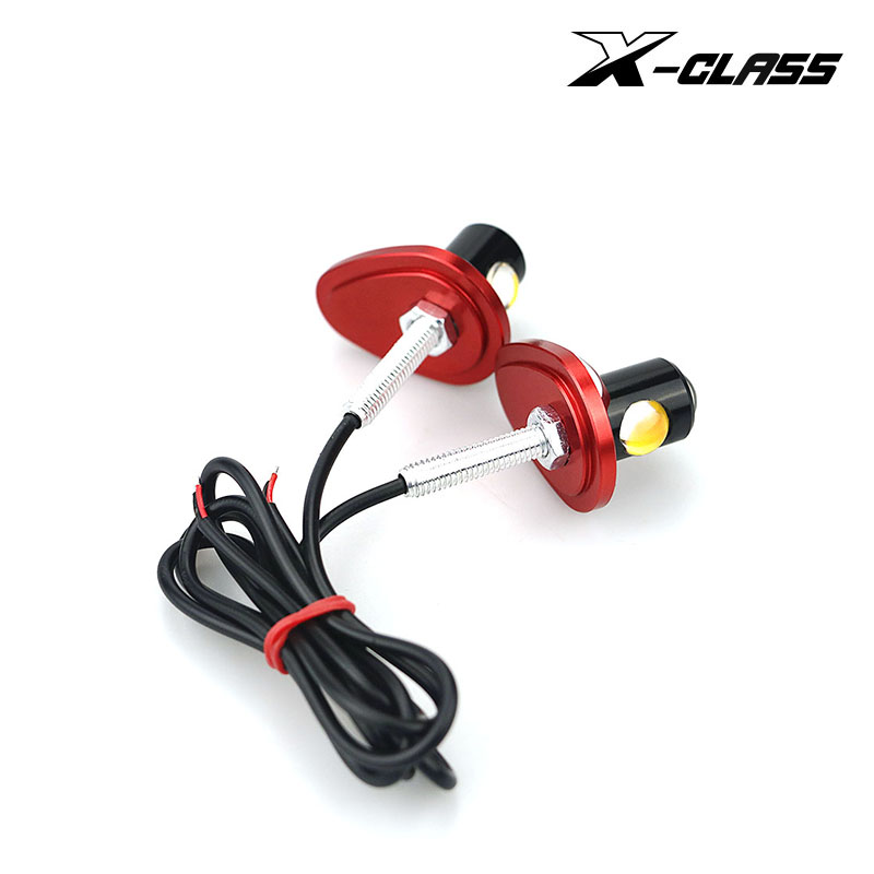1 Pair X-CLASS Universal Motorcycle LED Mini Turn Signal CNC Material  Multicolor Eagle Eye Shape Turn Indicators