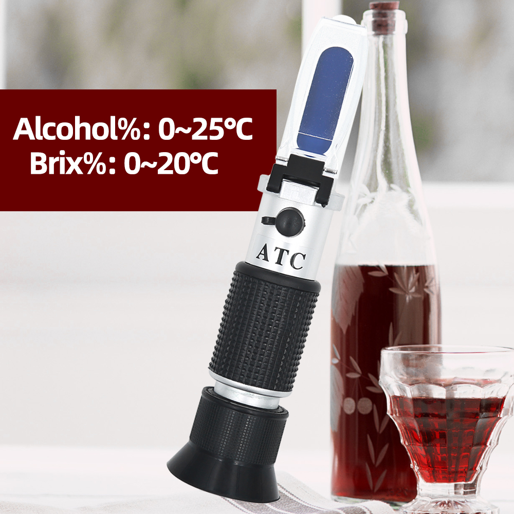 30pcs Brix 0 40% alcohol 0 25% Refractometer temperate compensation Wine sweetness meter Hand held brix Honey fruit 45%|refractometer brix|refractometer nd|refractometer alcohol - title=