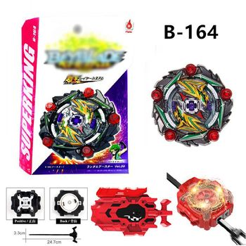 B-164 Burst Super King Curse Satan .Hr.1D Booster Vol.20 w/Launcher Combat Gyro spinning Top toys for children boys  gyroscope spinning top burst b 92 b 86 b 34 b 35 b 41 b 59 b 48 starter zeno excalibur m i xeno xcalibur m i with launcher kids toys