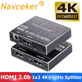 2020 Best HDMI Splitter 1x2 HDMI 2.0 Splitter 4K HDMI Video Audio Splitter Support 3D HDR 4K 60Hz Splitter HDMI 1x4 For Laptop - 1x2 HDMI Splitter, UK Power Plug