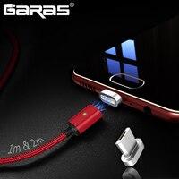 Garas Magnetico Cavo Micro USB/Tipo C Adattatore Spina Del Telefono Mobile Cavo di Ricarica Veloce e di Dati del Caricatore Magnetico Per typeC