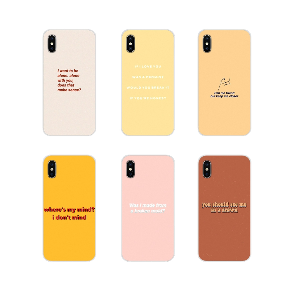 Song Lyrics Billie Eilish Aesthetic Mobile For <font><b>Samsung</b></font> A10 A30 A40 <font><b>A50</b></font> A60 A70 M30 Galaxy Note 2 3 4 5 8 9 10 PLUS Silicone Case image