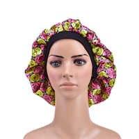Fshion mujeres satén noche dormir gorra pelo sombrero seda cabeza cubierta Banda ancha elástica nueva Arriva