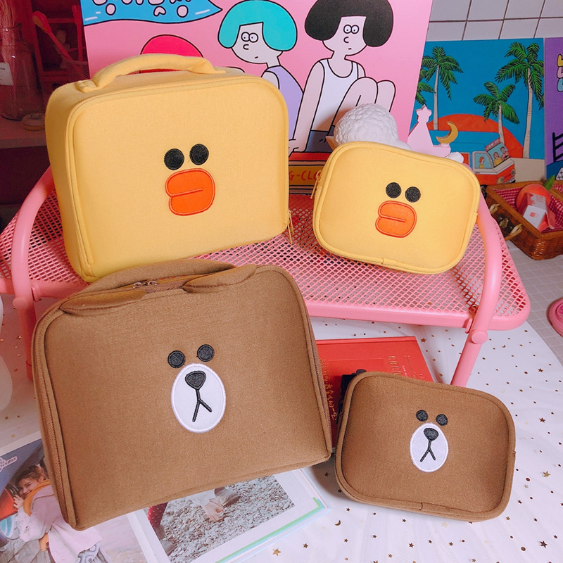 2 pcs/set Women Travel Cosmetic Bag Girls Cute Toiletry Makeup Pouch Multifunction Wash Accessories Supplies Wholesale Case Item image