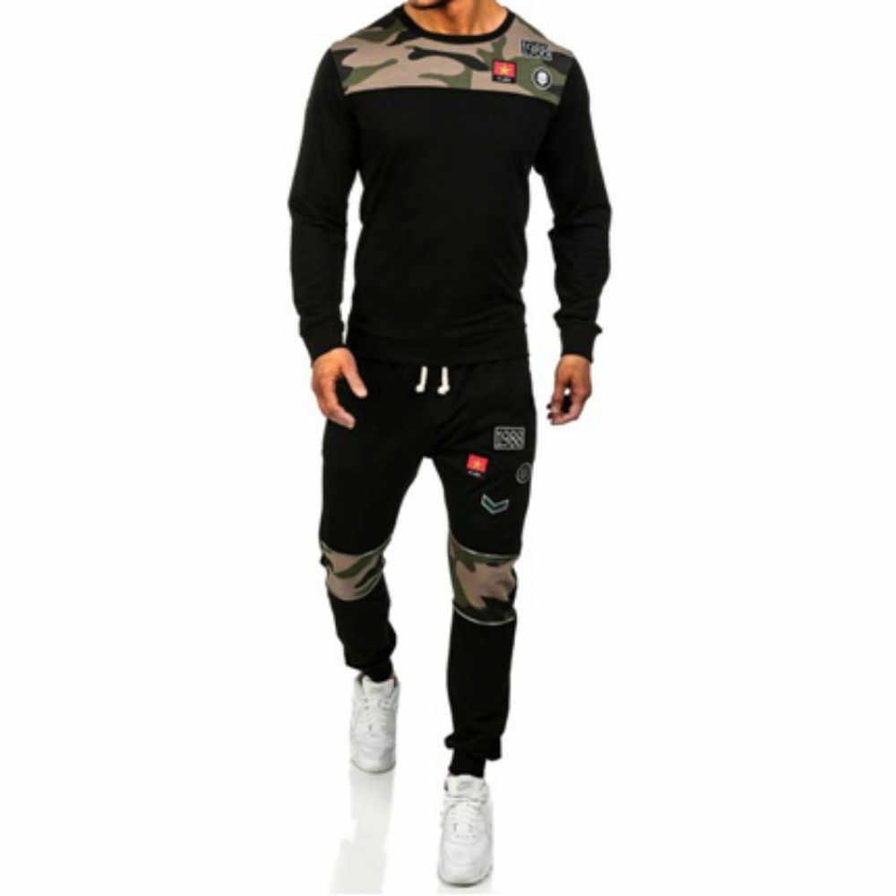 Vogue Nice New Men Tracksuits Men Camouflage Sweatshirts & Pants Male Joggers Workout Sets Boys 2 Piece Of Sweatsuit