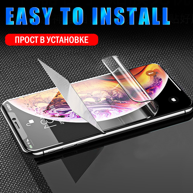 Full Cover Hydrogel Film For iPhone 11 12 Pro XS Max mini Screen Protector For iPhone SE 2020 XR X 7 6 6s 8 Plus Film Not Glass 2