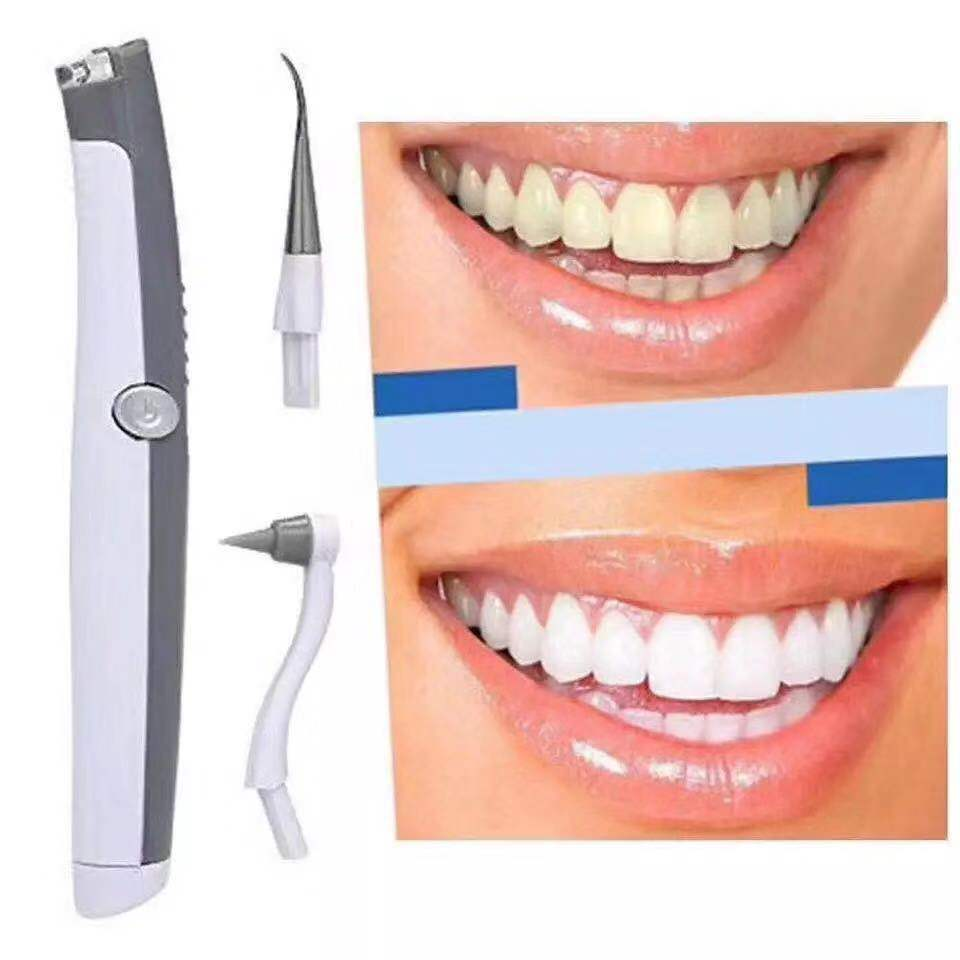 Electric Ultrasonic Sonic Dental Scaler Sonic Pic Scaler Polishing Teeth Oral Irrigator Vibrating Remove Calculu Dental Irrigato image