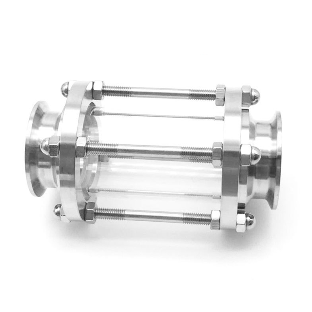 Image 2 - Clover Easy Install Tri Clamp Anti Corrosion Wear Resistant Sanitary Fitting Stainless Steel Sight Glass Diopter Flow 360 DegreePipe Fittings   -