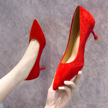 Women High-heeled Pumps Shoes Shallow Mouth Korean Version Versatile Women's Thin Heel Pointed Head Sexy Heels  Bridal Shoes spring moda mujer 2018 womens high heeled shoes sexy korean version thin heel pointed professional shoes yasilaiya shallow